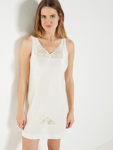 Fond de robe maille satinée long 90cm - Lingerelle - Naturel