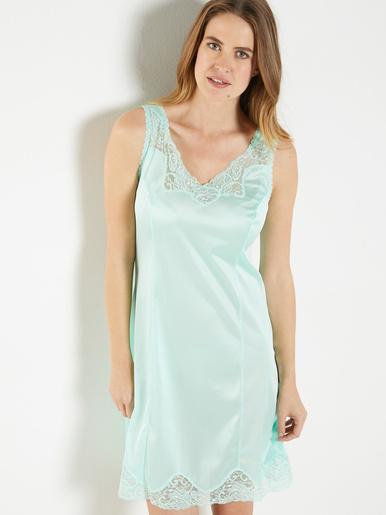 Fond de robe maille satinée 95cm - Lingerelle - Vert