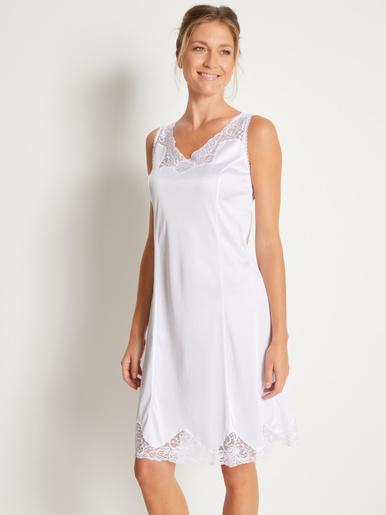 Fond de robe maille satinée 95cm - Lingerelle - Blanc