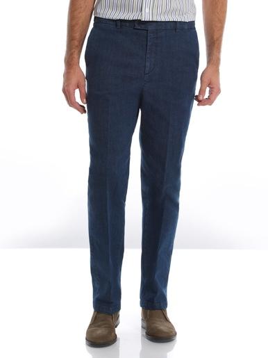Jean droit confort ceinture élastiquée - Honcelac - Bleu