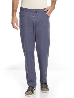 Pantalon droit coton taille élastiquée