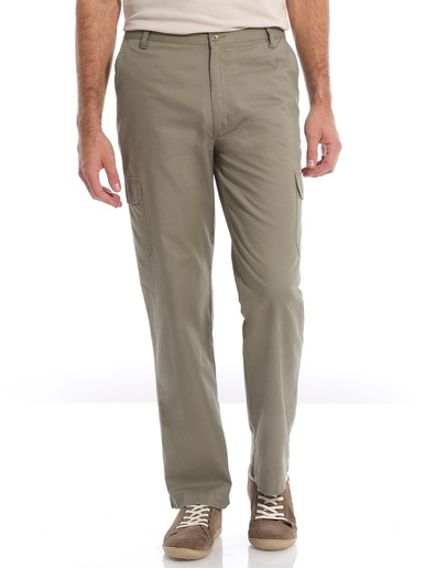 Pantalon de détente droit multipoches - Honcelac - Kaki