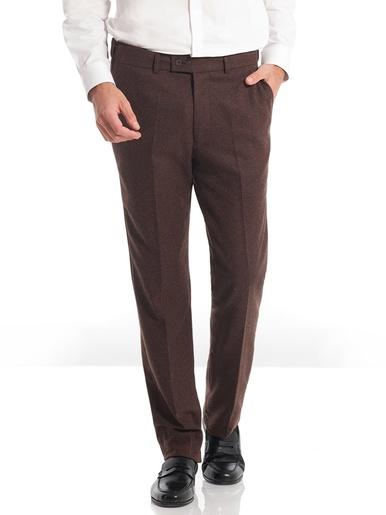 Pantalon polylaine à ceinture réglable - Honcelac - Marron