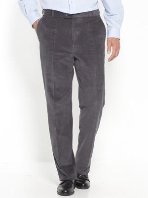 Pantalon droit velours taille réglable