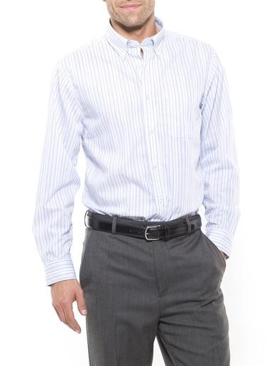Chemise manches longues stature -d'1,73m - Honcelac - Rayé ciel