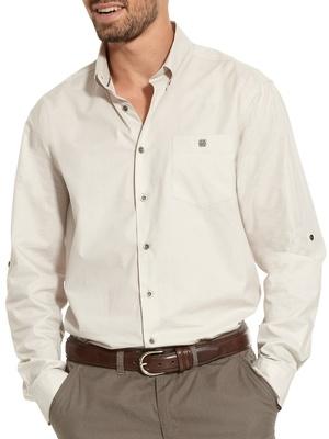 Chemise droite pur coton, carrure large