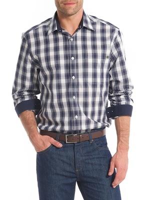 Chemise à carreaux, carrure large