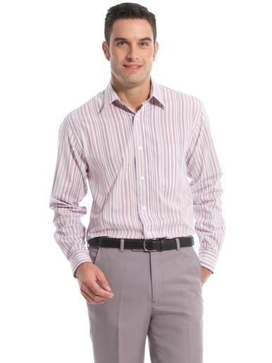 Chemise en pur coton tissé teint