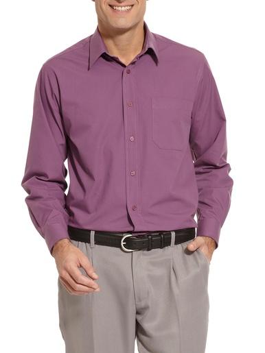 Chemise en pur coton tissé teint - Honcelac - Prune