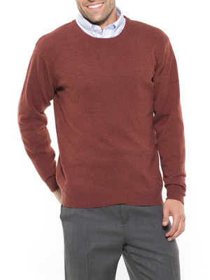 Pull col rond en pure laine