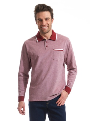 Polo manches longues pur coton