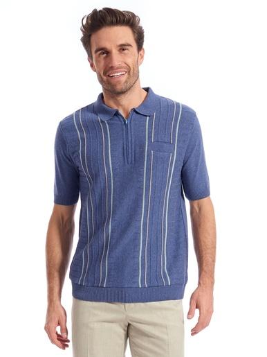 Polo manches courtes - Honcelac - Bleu