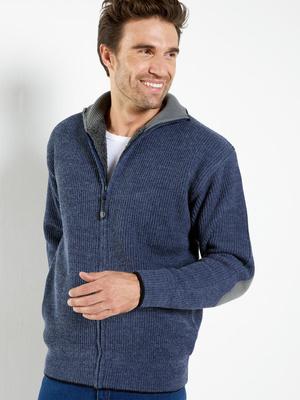 Gilet zippé fourré 30% laine