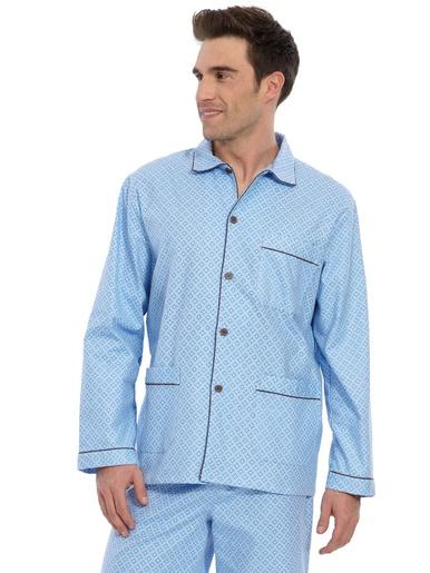 Pyjama en flanelle pur coton - Honcelac - Imprimé ciel
