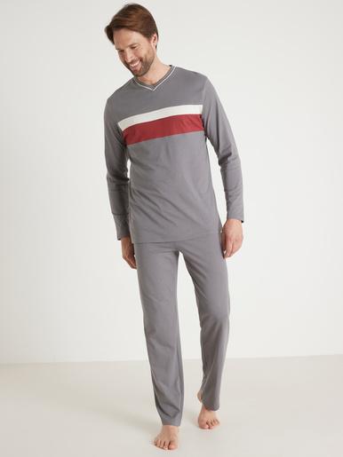 Pyjamas jersey pur coton lot de 2 - Honcelac - Assortis