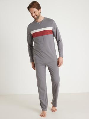 Pyjamas jersey pur coton lot de 2