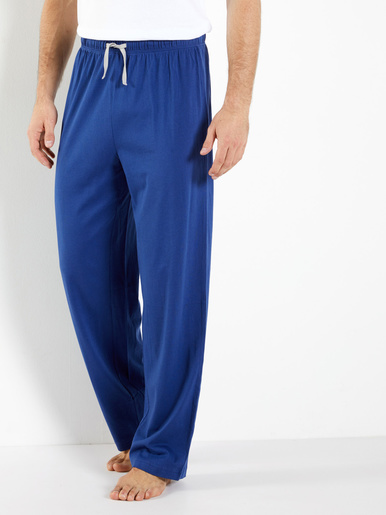 Lot de 2 pantalons de pyjama bas droits - Honcelac - Bleu et gris