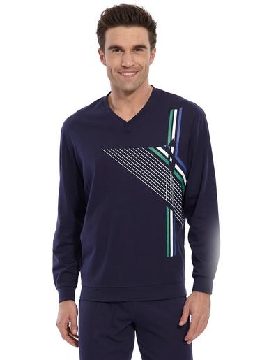 Pyjama maille jersey pur coton peigné - Honcelac - Marine