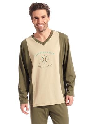 Pyjama à motif pur coton peigné