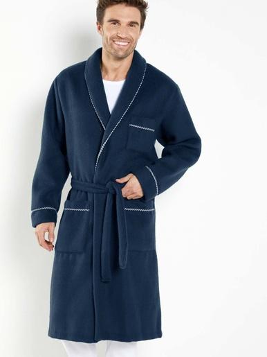 Robe de chambre maille courtelle® - Honcelac - Uni bleu