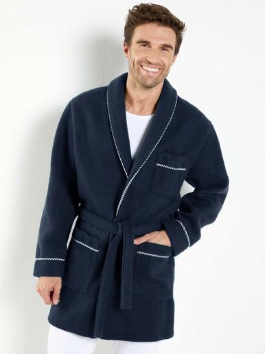 Veste d'intérieur maille courtelle® - Honcelac - Uni bleu