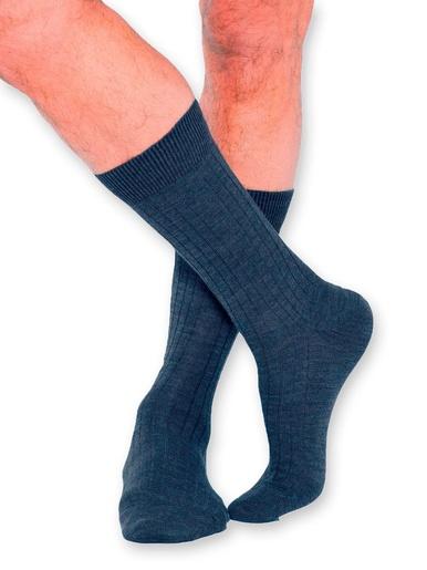 Mi-chaussettes laine mérinos 2 paires - Labonal - Marine