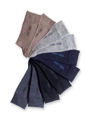 Mi-chaussettes 40% laine 10 paires