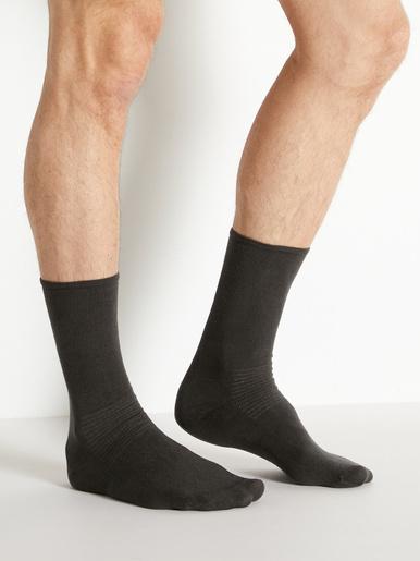 Mi-chaussettes spécial diabète 2 paires - Honcelac - Anthracite