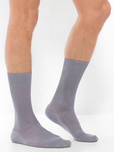 Lot de 2 paires de mi-chaussettes - Honcelac - Gris
