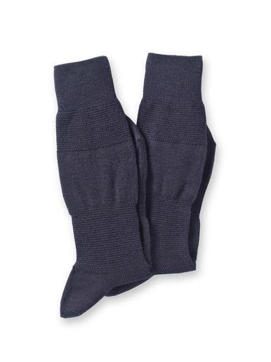 Lot 2 paires de mi-chaussettes 60% laine - Labonal - Marine