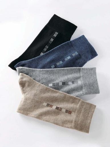 Mi-chaussettes lot de 4 paires - Honcelac - Assorties