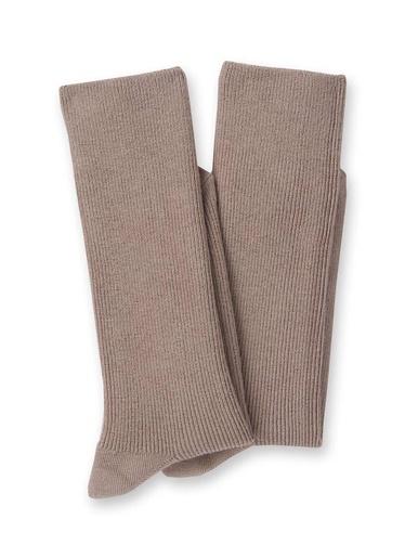 Mi-chaussettes coton lot de 2 paires - Lingerelle - Beige
