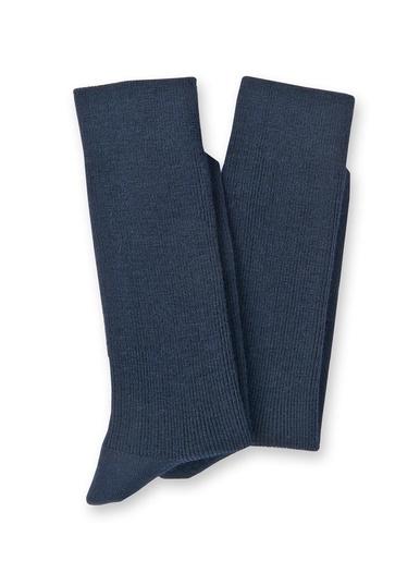 Mi-chaussettes laine lot de 2 paires - Lingerelle - Marine