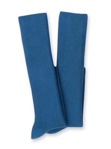Mi-bas coton majoritaire lot de 2 paires - Lingerelle - Bleu acier