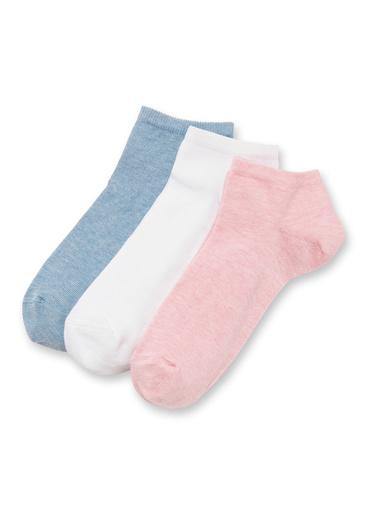 Socquettes coton majoritaire 3 paires - Lingerelle - Rose chiné bleu chiné blanc
