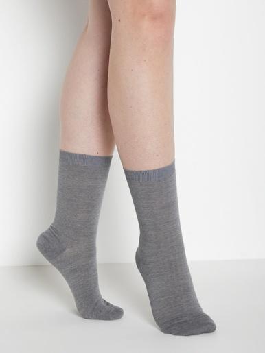 Mi-chaussettes jambes sensibles 2 paires - Labonal - Gris clair