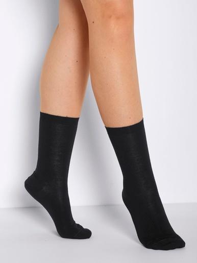 Mi-chaussettes jambes sensibles 2 paires - Labonal - Noir