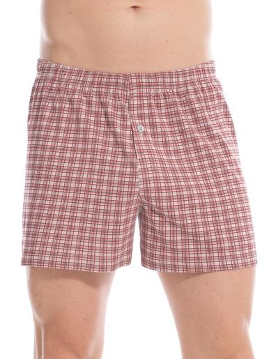 Caleçons coton lot de 3 - Honcelac - Rouge et blanc