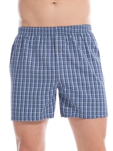 Caleçons pur coton lot de 3 - Honcelac - Assortis bleu