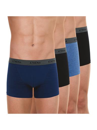 Lot de 4 boxers Basic Coton