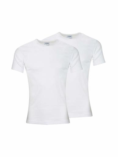 Tee-shirts en coton BIO, lot de 2 - Athéna - Blanc