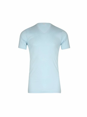 Tee-shirt encolure V, pur coton