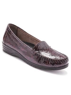 Mocassins vernis, largeur confort