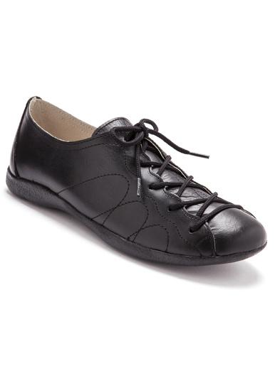 Derbies extra larges pieds sensibles - Pédiconfort - Noir
