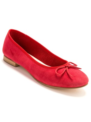 Ballerines cuir velours largeur confort