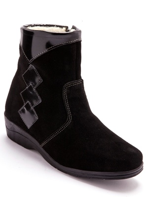 Boots cuir fourrées laine majoritaine