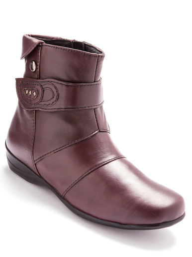 Boots zippées à aérosemelle® - Pédiconfort - Bordeaux