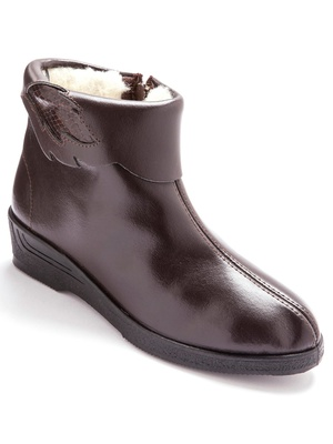 Boots cuir fourrés pure laine