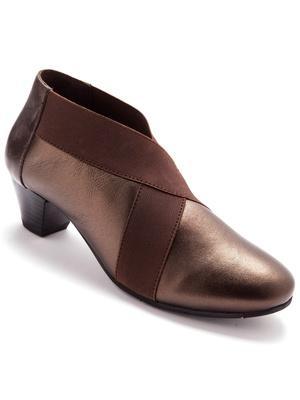 Boots cuir à bandes élastiquées