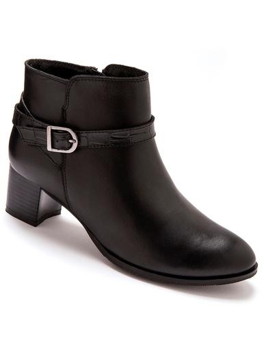 Boots en cuir - Pédiconfort - Noir